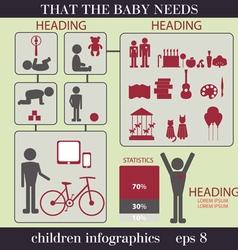 Children infographics vector