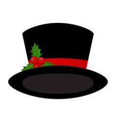Christmas black hat vector