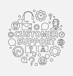 customer support round vector image