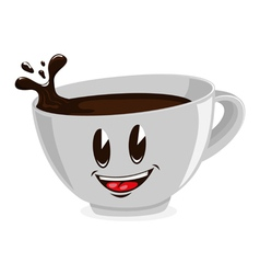 cute cup of coffee vector image vector image