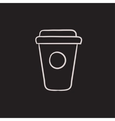 Disposable cup sketch icon vector image