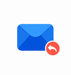 Email envelope mail message reply icon vector