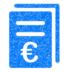 Euro catalog list grunge icon vector