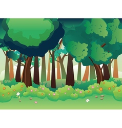Green summer forest3 vector
