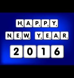 Happy new year 2016 scrabble vector