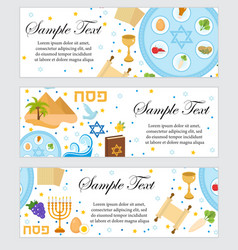happy passover jewish holiday banner template for vector image