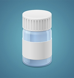 Jar for tablets vector image vector image