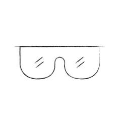 Laboratory glasses isolated icon vector