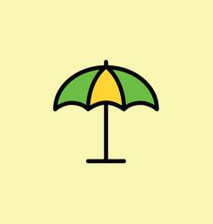 parasol umbrella icon thin line vector image vector image