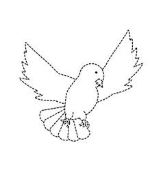 peace dove icon vector image vector image