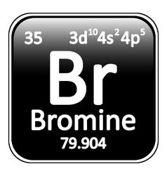 Periodic table element bromine icon vector