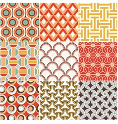 Seamless retro pattern vector