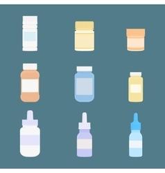 Set of meds icons medicine vector