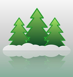 Trees and snow vector image vector image