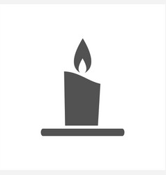 wax candle icon on a white background vector image