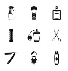 Hairstyle icons set simple style vector