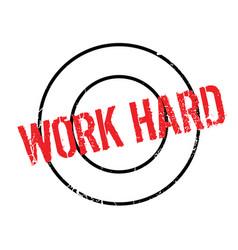 Work hard rubber stamp vector
