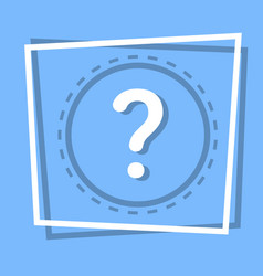 question mark icon information help web button vector image