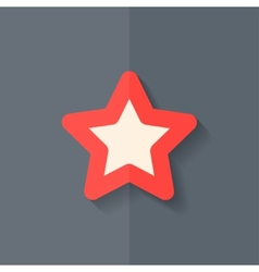 Star favorite sign web icon flat design vector