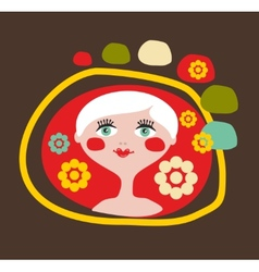 Cute portrait of the blond girl vector image