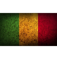 Flag of mali with old texture vector