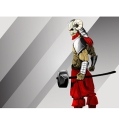 Ancient warrior image vector