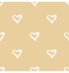 Seamless pattern with hand drawn heart vector