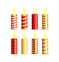 Christmas candles set vector