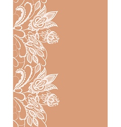 Abstract lace with elements of flowers and leaves vector