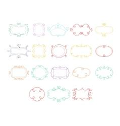 Frames Hand Drawn Set vector image