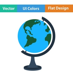 Flat design icon of globe vector