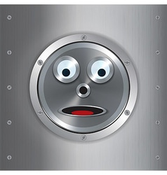 Surprised robot face background vector image