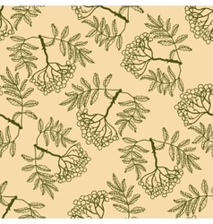 Rowan seamless pattern vector
