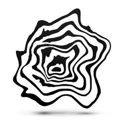 Black and white marble style abstract shape vector