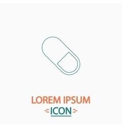 Pill computer symbol vector