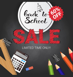 Back to school seasonal sale poster shopping vector