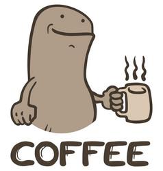 bug and coffee vector image