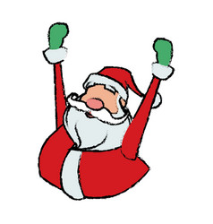 cartoon santa claus cheerful for your christmas vector image