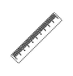 Centimeter ruler sign black dashed icon vector