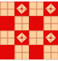 Chessboard beige red background vector