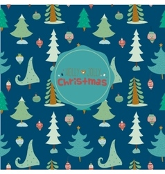 Christmas and New Year greeting pattern vector image