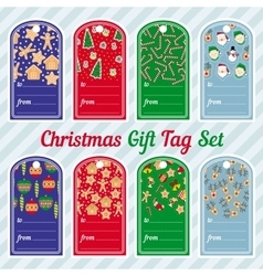 Christmas gift tag design set vector