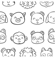Collection stock of animal doodle hand draw vector