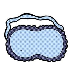 Comic cartoon sleeping mask vector