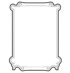 Curly baroque cartouche frame black vector