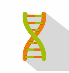 dna helix icon flat style vector image