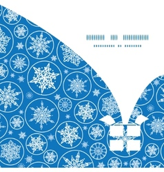 falling snowflakes Christmas gift box silhouette vector image