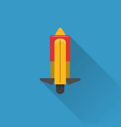 flat style unicycle icon vector image