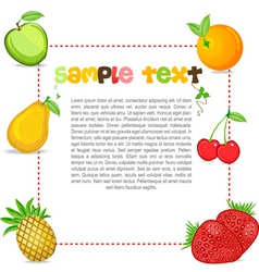fruity text template vector image