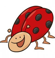 funny ladybug vector image vector image